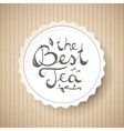 best tea text vector image vector image