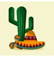 Mexico culture icons in flat design style vector image