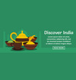 discover india banner horizontal concept vector image