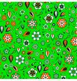 Funky flowers pattern vector image