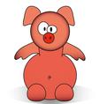 Funny piggy cartoon vector image