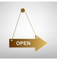 Open sign Flat style icon vector image