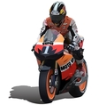 Superbike vector image