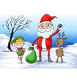 Santa and friends vector image vector image