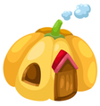 pumpkin house vector image vector image