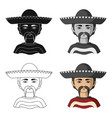 mexicanhuman race single icon in cartoon style vector image