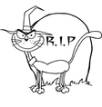 Halloween cartoon cat vector image vector image