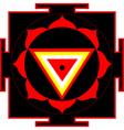 kali yantra vector image vector image