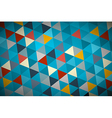 Blue Abstract Triangle Retro - Modern Background vector image