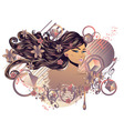 Music Girl4 vector image