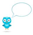 Blue bird with a speech bubble vector image vector image