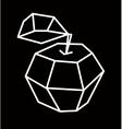 apple polygonal design vector image