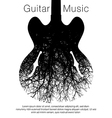 A stunning image of a guitar and tree vector image