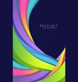 Abstract rainbow colorful background vector image