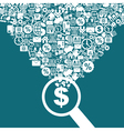Business a magnifier vector image