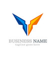 business vision shape company logo vector image