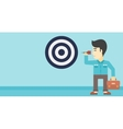 Businessman and target board vector image