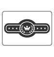 Champion belt icon 5 vector image