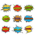 comic funny speech bubbles collection set of vector image