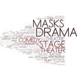 Drama word cloud concept vector image