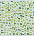farm animals silhouette seamless pattern zoo vector image