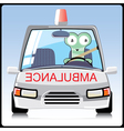 monster in the ambulance vector image