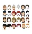 set avatars female faces design vector image