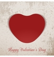 Valentines Day realistic red paper Heart vector image