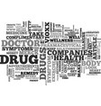 Why drug companies are naughty and remedies to vector image