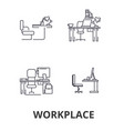 workplace office work business desk corporate vector image