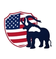 Republican elephant in the background of the vector image