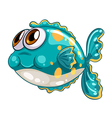 A bubble fish vector image vector image
