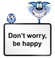 Be happy vector image vector image