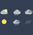 UI Weather Icons vector image