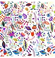 Floral vintage flower seamless pattern vector image vector image