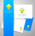 holy cross logo vector image vector image