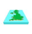 Map of United Kingdom icon cartoon style vector image