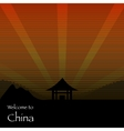 Welcome to chine texture poster vector image