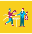 Business ideas banner Exchange ideas to money vector image
