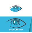 eye vision logo template vector image