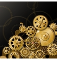 Golden Gears Composition vector image