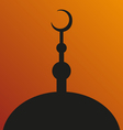 Great Mosque symbol silhouette vector image