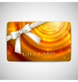 holiday gift card with white bow and ribbon vector image