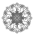 round decorative ornament element vector image