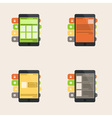 Set of flat interface concept for web and mobile vector image