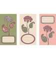 Set of floral card templates vector image vector image