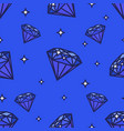 seamless diamonds pattern on blue vector image