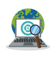 computer work or office related icons image vector image