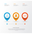 Human icons set collection of personal badge vector image