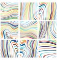 abstract rainbow designs vector image